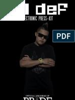 DJ deF Presskit 2013