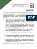 CONSTITUCIONALISMO EN TIEMPOS DE EMERGENCIA Córdoba, 24 y 25 de junio de 2005  La Restricción de los Derechos en los Estados de Excepción