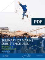 Summary of Marine Subsistence Uses