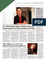 El Carlos Haya ignora derivaciones de transexuales de otros médicos del SAS