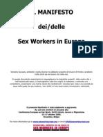 IL MANIFESTO dei/delle Sex Workers in Europa