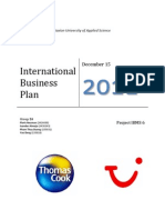 Final International Business Plan Report II TUI & Thomas Cook