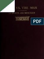 Man Versus the Man by Robert Rives La Monte & H.L. Mencken