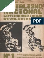 Cuadernos del Socialismo Nacional N° 1- Revista