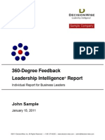 DecisionWise Sample 360 Degree Feedback Report
