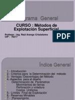 Indice General- Metodo de Explotación Superficial