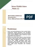 3. Pemikiran Politik Islam Masa Nabi