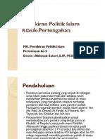 5. Pemikiran Politik Islam Klasik-Pertengahan