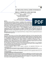 Determinants of Organizational Effectiveness In