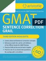 Aristotle Prep GMAT Sentence Correction Grail 3rd Edition Sample