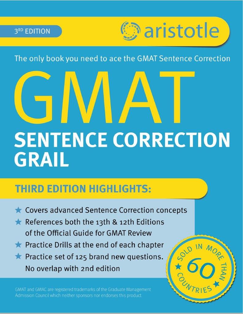 Aristotle Prep GMAT Sentence Correction Grail 3rd Edition Sample |  Grammatical Number | Adjective