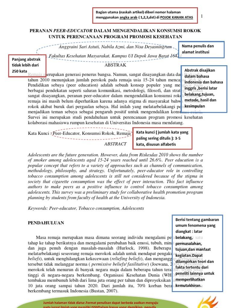 Contoh Dan Penjelasan Pkm Artikel Ilmiah Inti