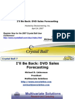 Ill Be Back DVD Sales Forecasting