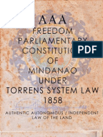 AAA - Freedom Parliamentary Constitution of Mindanao
