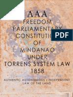 AAA - Freedom Parliamentary Constitution of Mindanao