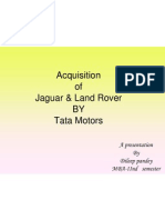 22310100 Acquisition of Jaguar Land Rover by Tata Motors