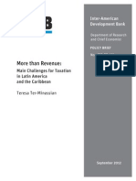 More Than Revenue Main Challenges for Taxation in Latin America and the Caribbean