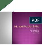 06 Manipulasi Data