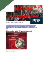 Noticias Uruguayas Martes 16 de Octubre Del 2012