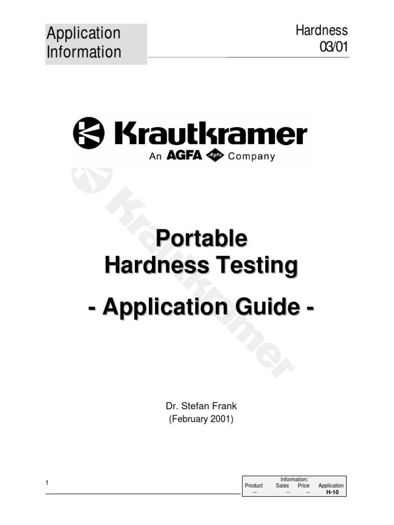 Hardness App Guide Hardness Calibration