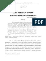 Civilna Kultura i Obrazovanje