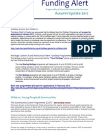 funding alert autumn update 2012