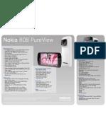 Nokia 808 Pureview Data Sheet