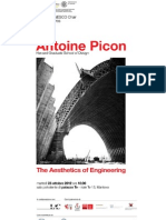 Antoine Picon The Aesthetics of Engineering Martedì 23 ottobre 2012, ore 18:00 Sala Polivalente, Palazzo Te, viale Te 13, Mantova