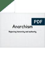 Ideologies Anarchism