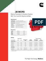 QSK38 IMO Tier II and EU Stg IIIa Certified Ratings SS