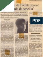 Información sobre Prefab Sprout en La Vanguardia (23 de noviembre de 1990)