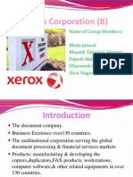 Final PPT of Xerox-Corporation
