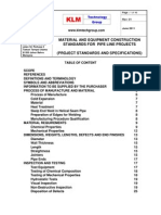 Project Standards and Specifications Pipeline Construction Rev01