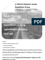 2012 Registration for Bronze DofE Flyer