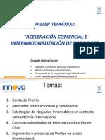 Taller de Aceleración comercial e internacionalización de negocios