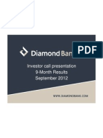 Diamond Bank - IR Presentation (Q3 2012 Results) 161012