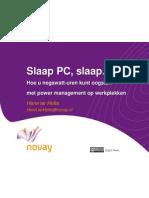Verkenning Powermanagement Werkplekken - Presentatie
