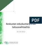 Tiilikainen Info Talousvaihtoehdosta 16102012