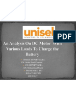 A Analysis on DC Motor
