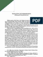 Translation and Interpretation in Gal 2.16