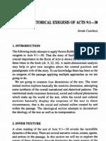 Socio Rhetorical Exegesis of Acts 9.1-30