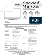 Mitsubishi Service Manual for DLP Projection HDTV Model WD-57733
