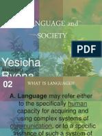 Chapter 1 - Language & Society