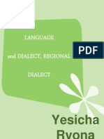 Chapter 2 - Language, Dialect, Regional Dialect