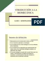 Introduccion a La Biomecanica