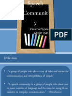 Chapter 5 - Speech Community