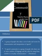 Chapter 5 - Speech Community