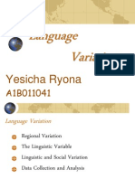 Chapter 6 - Language Variation