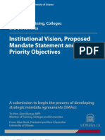 Ontario - Institutional Vision, Proposed Mandate Statement and Priority Objectives - University of Ottawa