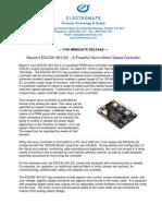 Maxon ESCON 36/3 EC New Product Press Release